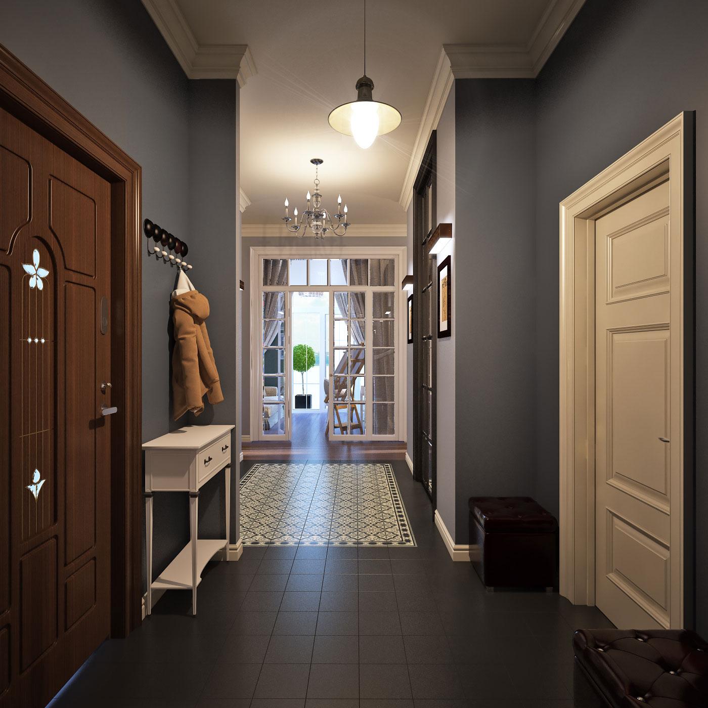 интересные фото варианты дизайна узкого коридора