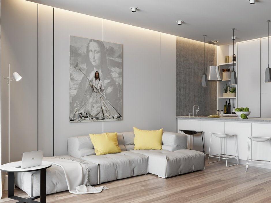 Картина на стене кухни-гостиной