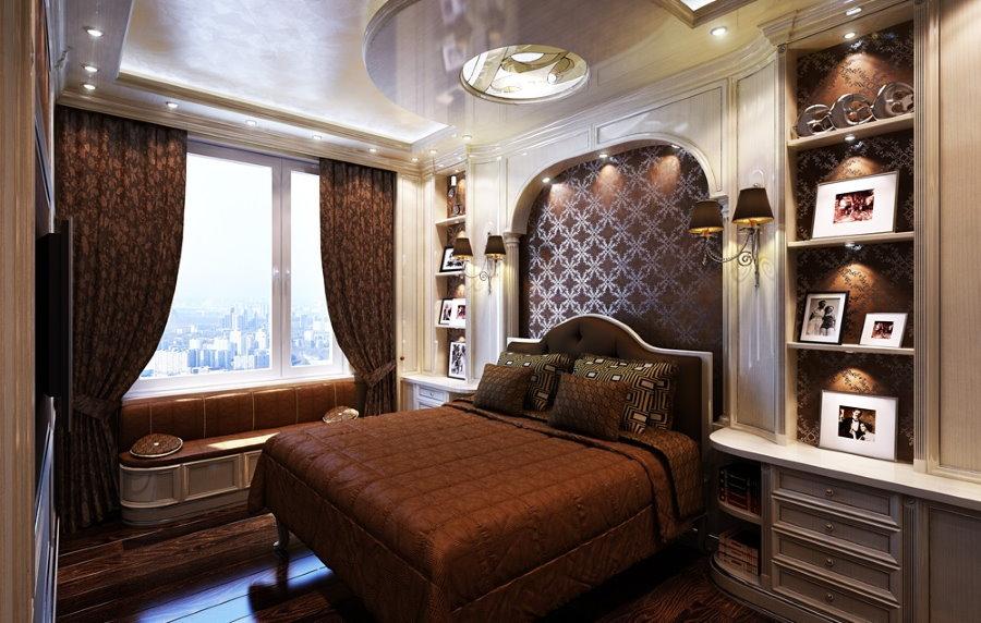 Спальня для холостяка в стиле классики