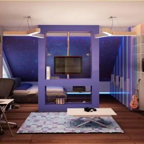 комната для парня фото интерьера