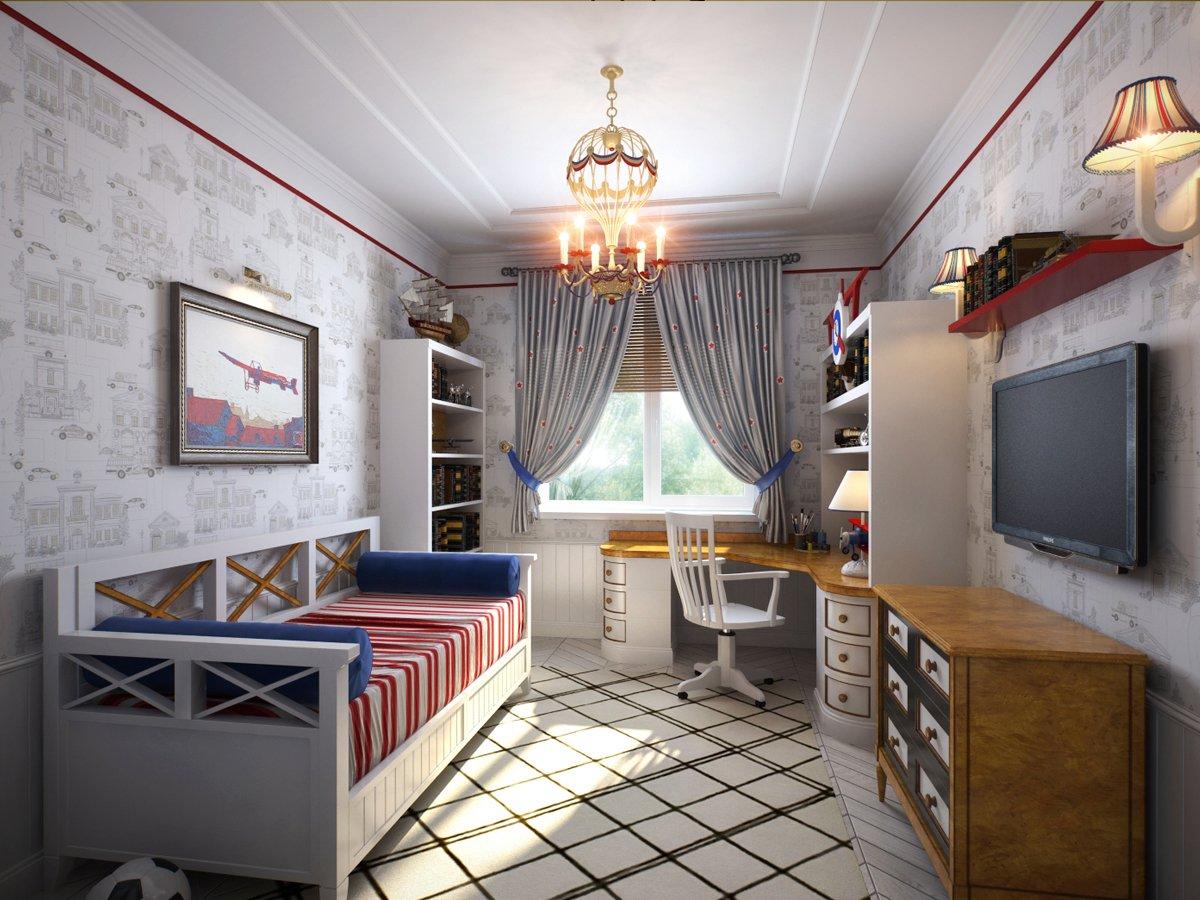 комната для юноши классика