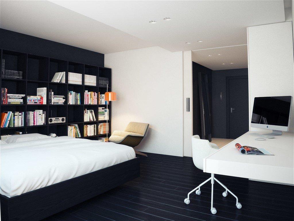 комната для юноши минимализм фото
