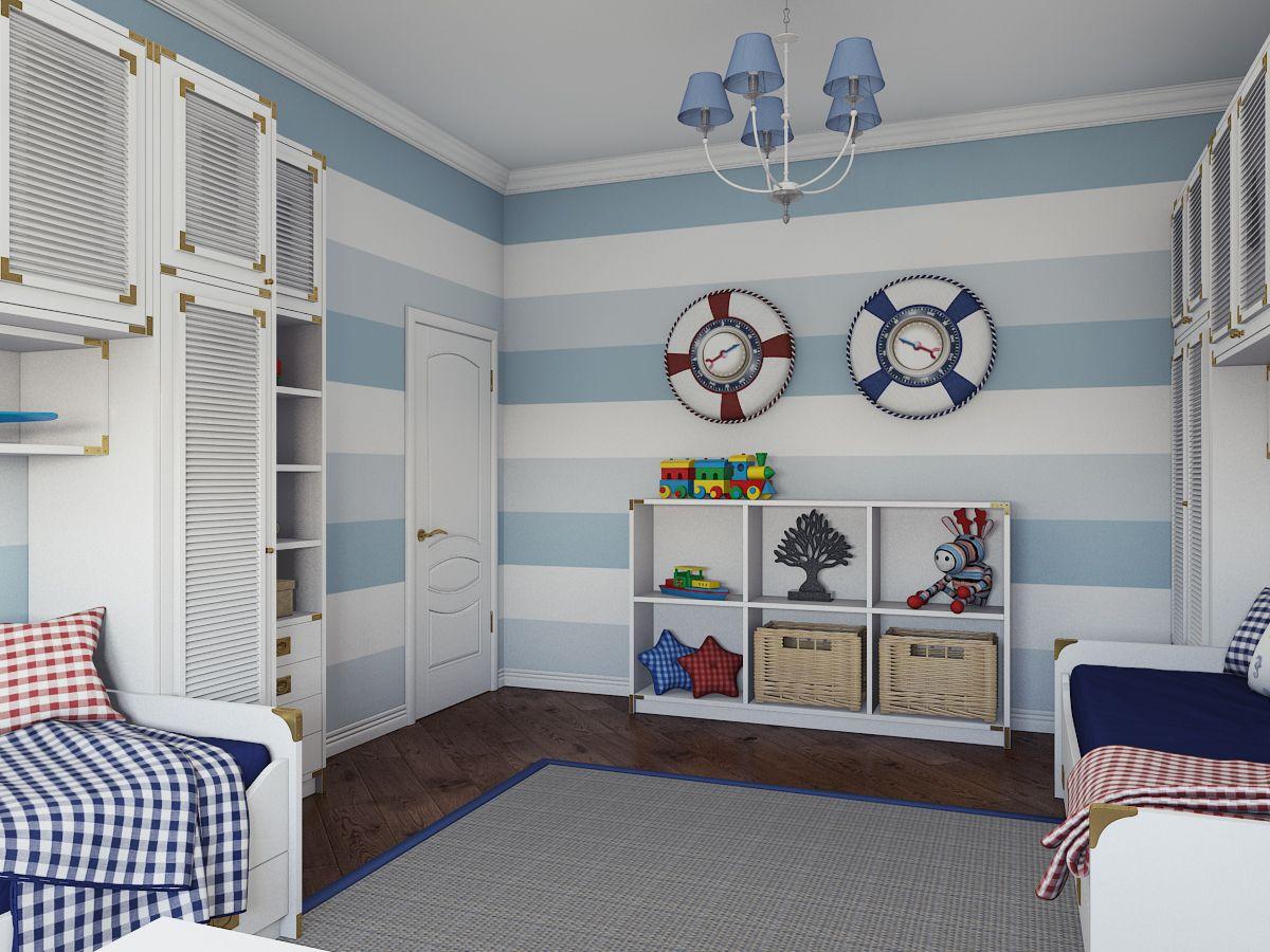 комната для юноши морской стиль