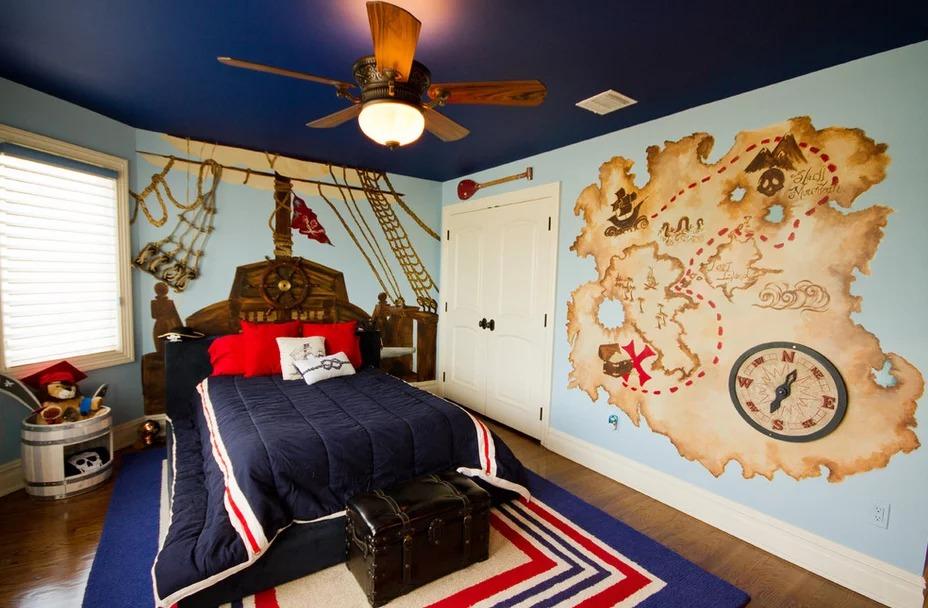 комната для юноши в морском стиле
