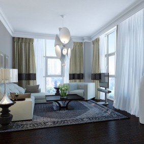 комната с двумя окнами на разных стенах фото дизайн