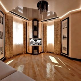 комната с двумя окнами на разных стенах фото дизайна