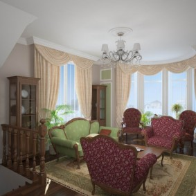 комната с двумя окнами на разных стенах декор
