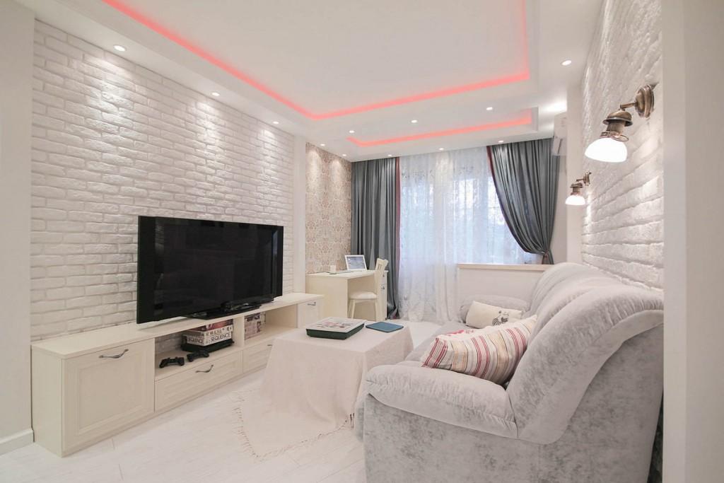 Освещение комнаты в белом цвете