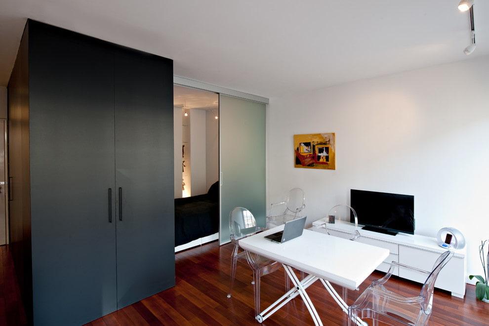 Спальня-гостиная в стиле минимализма