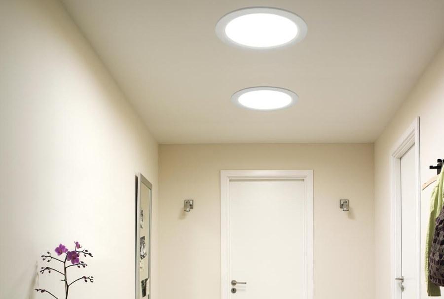 Встроенные светильники большого диаметра
