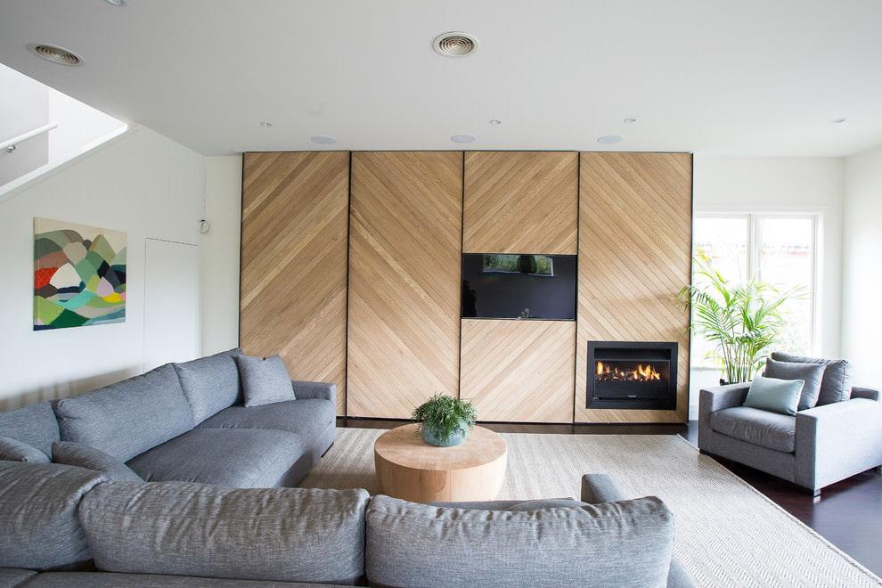 квадратная гостиная дизайн