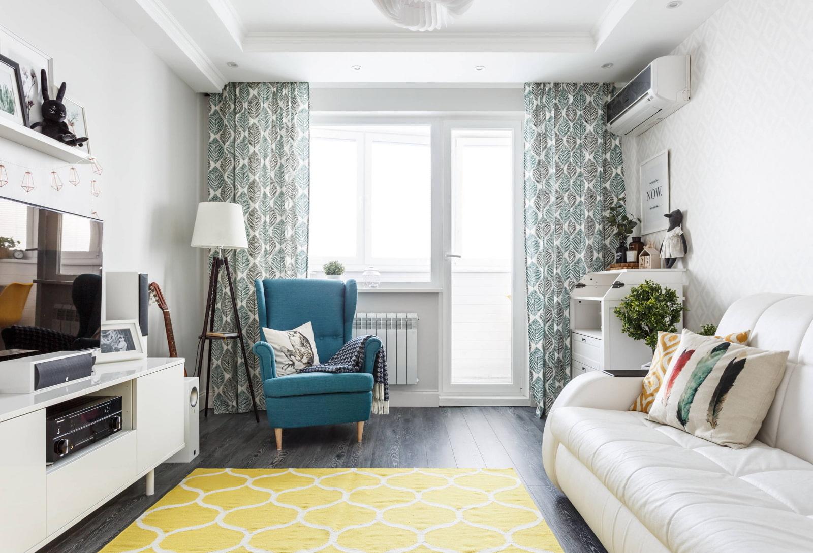 квадратная гостиная фото дизайна