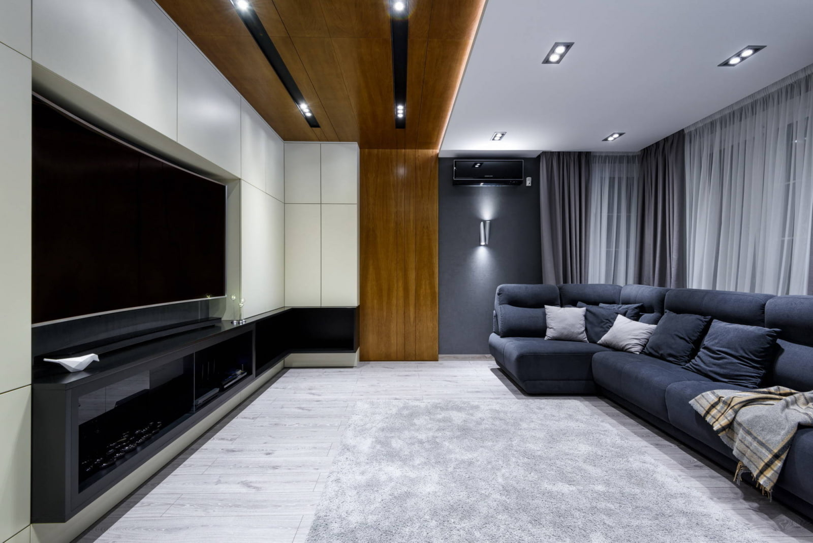 квадратная гостиная интерьер