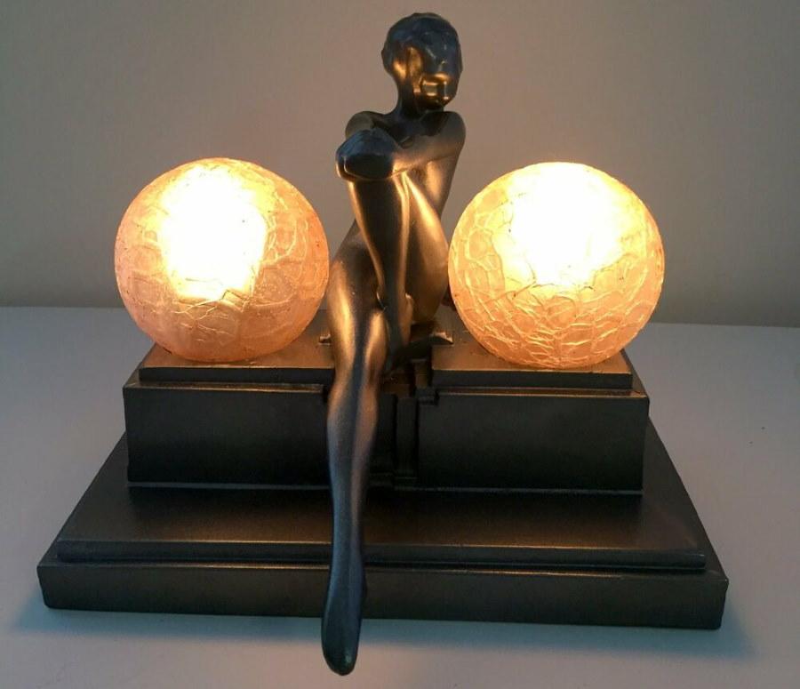 Роскошная настольная лампа для спальни в стиле арт-деко