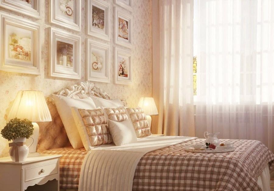 Красивые лампы в спальне стиля прованс