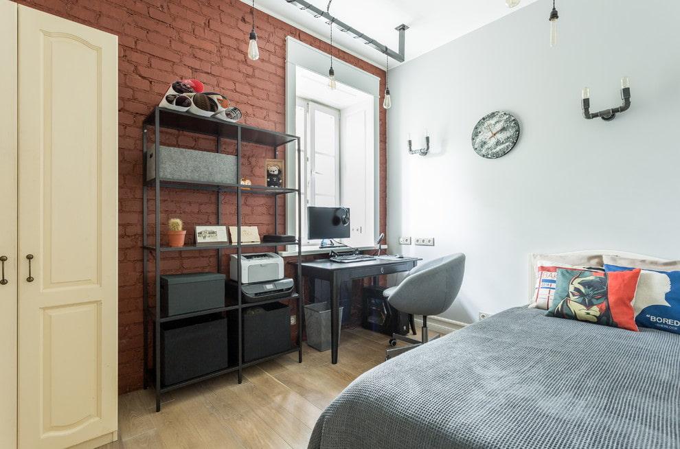 Интерьер комнаты подростка в стиле лофта