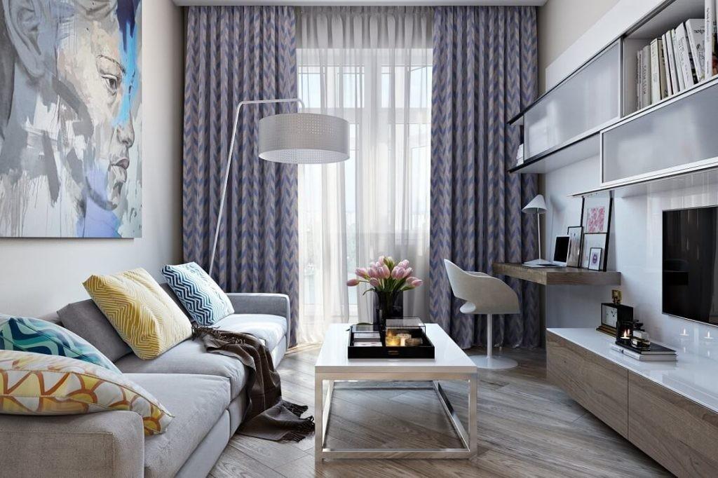 Пример меблировки гостиной в двухкомнатной хрущевке