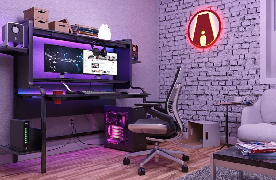 Дизайн комнаты геймера в стиле минимализм