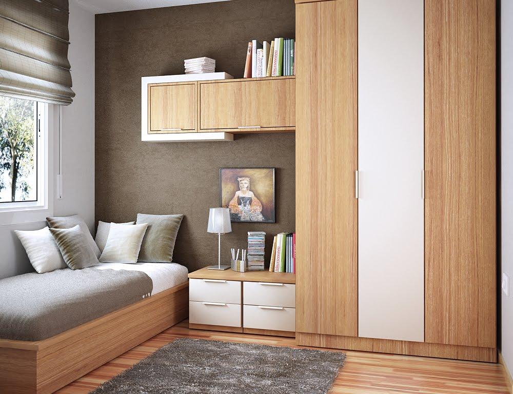 Модульная мебель в спальне небольшого размера
