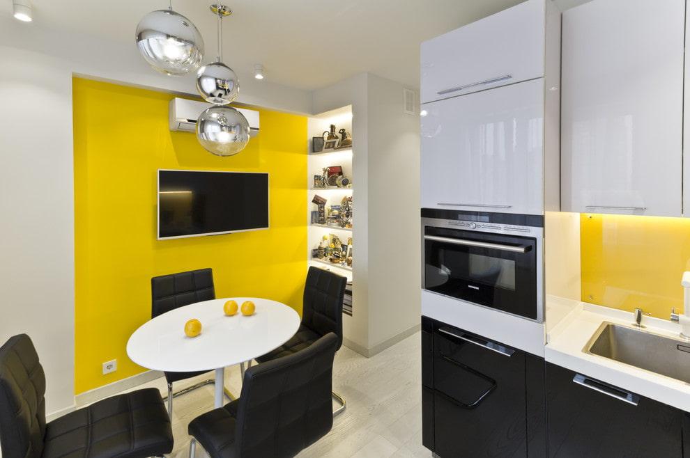 Подсветка ниши на кухне в стиле хай-тек