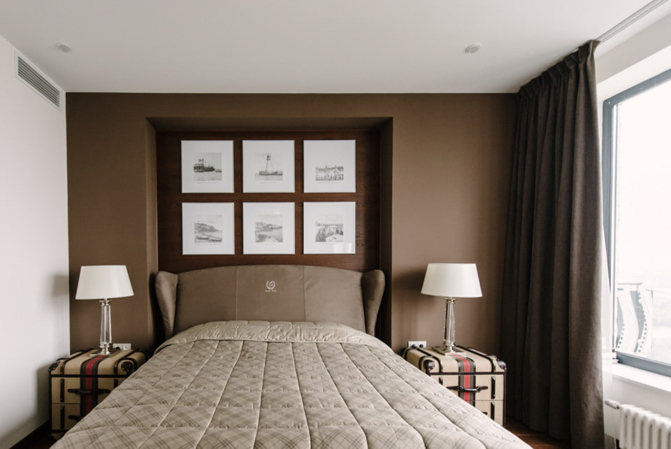 Декорирование нишей небольшой спальной комнаты