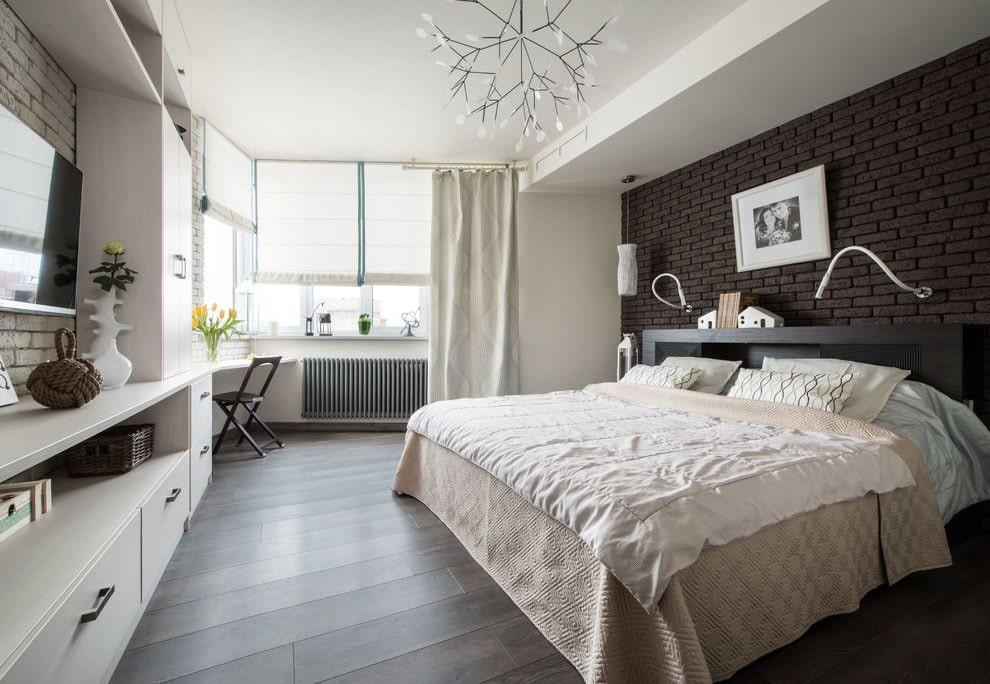 Окрашенный потолок в спальне подростка