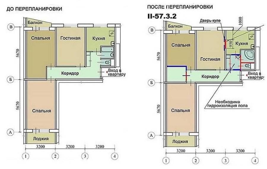 Схеме перепланировки санузла в 3 комнатной хрущевке