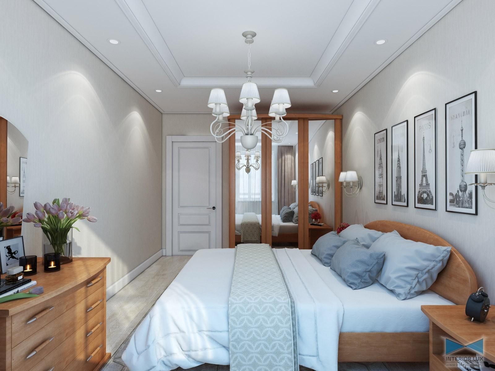 планировка спальни прямоугольной
