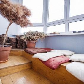 подиум в квартире фото интерьера