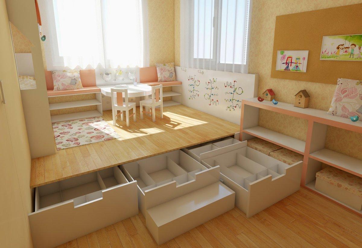 подиум в квартире в детской