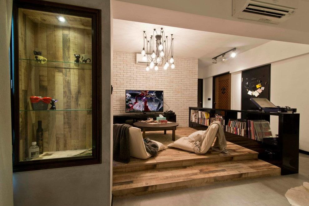 подиум в квартире в гостиной