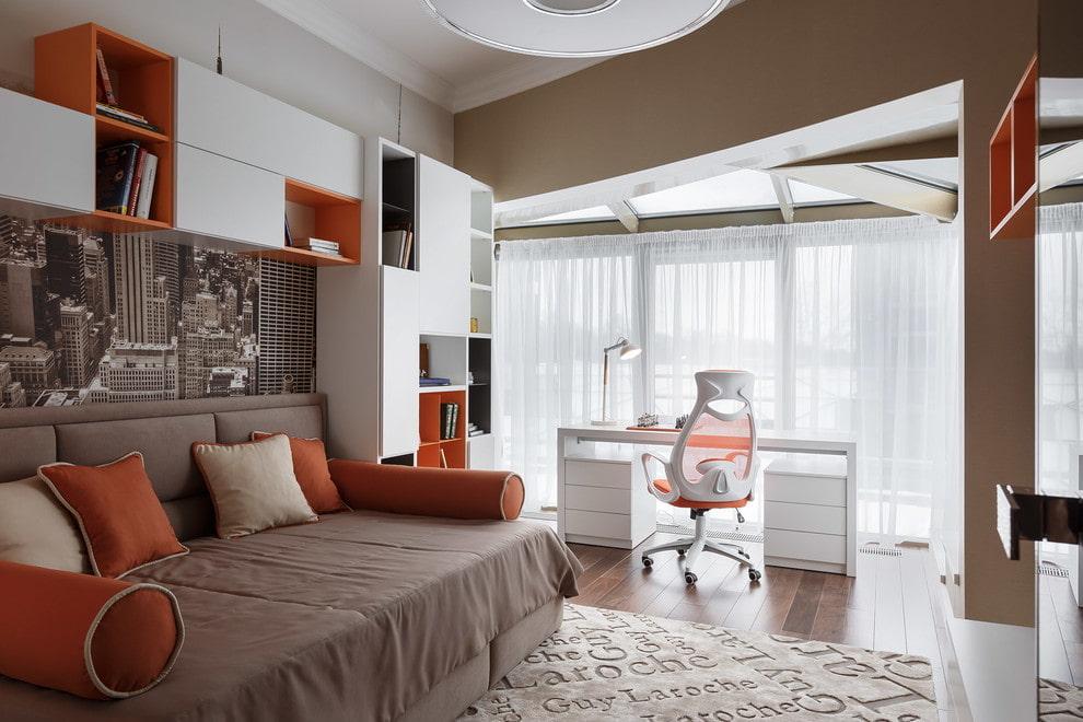 Меблировка комнаты для мальчика подросткового возраста