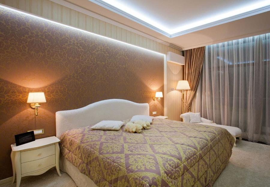 Освещение спальни в классическом стиле