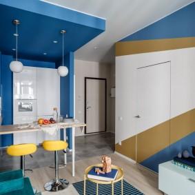 покраска стен в интерьере виды идеи
