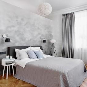покраска стен в интерьере спальни