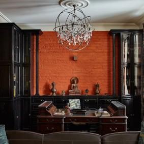 покраска стен в интерьере гостиной