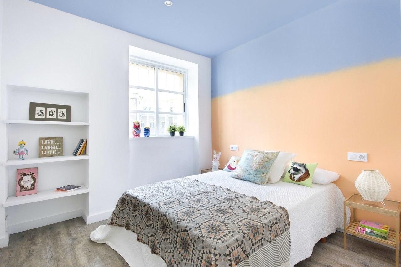 покраска стен в квартире дизайн фото