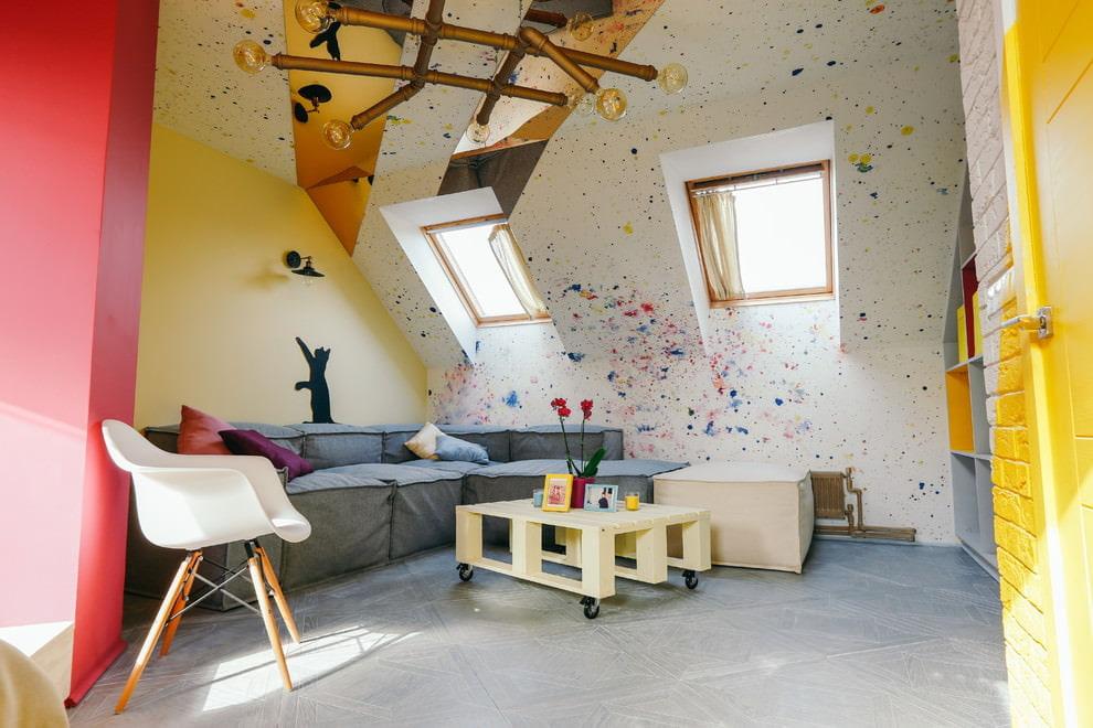 покраска стен в квартире идеи