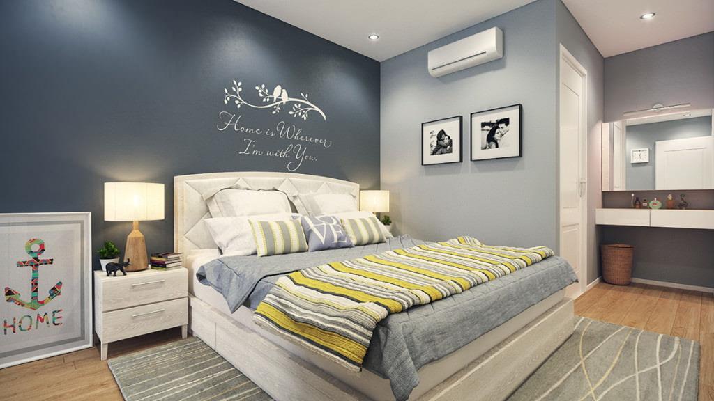 покраска стен в квартире серой краской