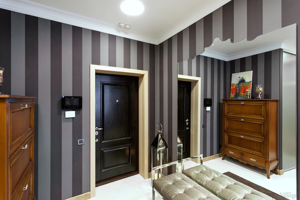 покраска стен в квартире в полоску