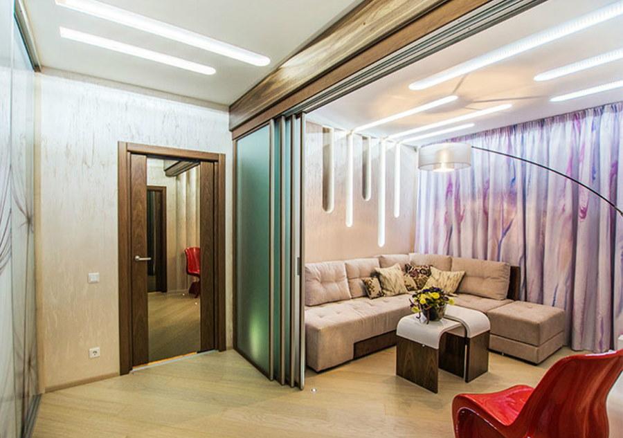 Дизайн проходной комнаты в хрущевке панельного дома