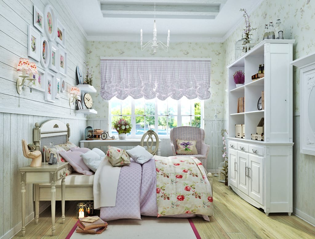 Спальня в стиле прованс для девочки подростка