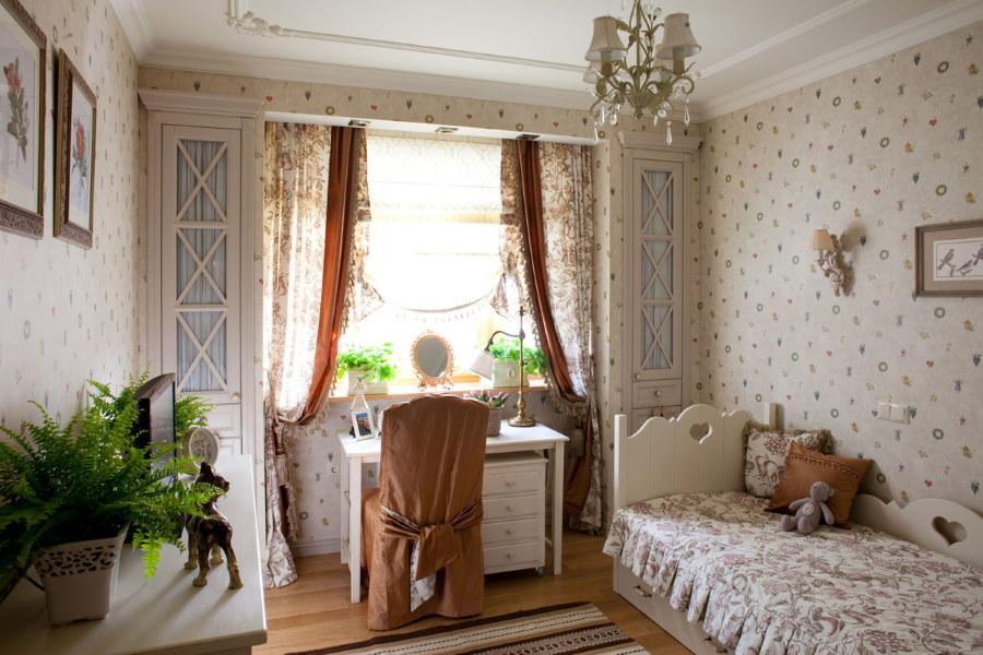 Подростковая комната в стиле французского прованса