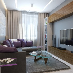 расстановка мебели в комнате декор фото