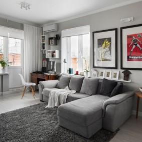 расстановка мебели в комнате фото оформления