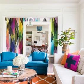 расстановка мебели в комнате варианты идеи
