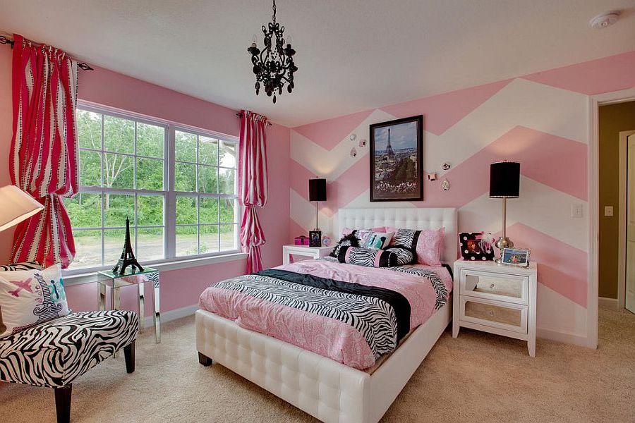 Розовый цвет в интерьере спальной комнаты