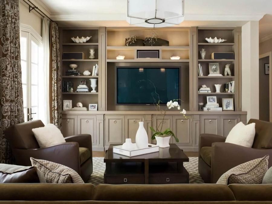Мягкая мебель в гостиной маленькой площади