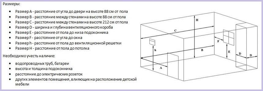 Схема замера однокомнатной квартиры прямоугольной формы