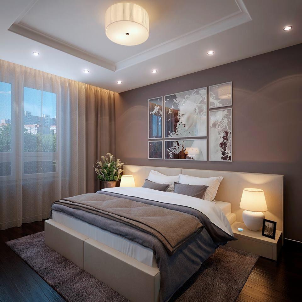 современная планировка спальни